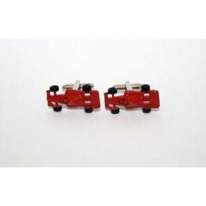gemelos coche ferrari rojo